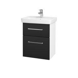 Dřevojas - Koupelnová skříň GO SZZ2 50 - N01 Bílá lesk / Úchytka T04 / L03 Antracit vysoký lesk (148300E)