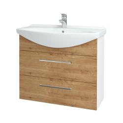 Dřevojas - Koupelnová skříň TAKE IT SZZ2 85 - N01 Bílá lesk / Úchytka T04 / D09 Arlington (153076E)
