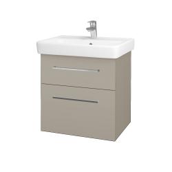 Dřevojas - Koupelnová skříň Q MAX SZZ2 60 - M05 Béžová mat / Úchytka T04 / M05 Béžová mat (198343E)