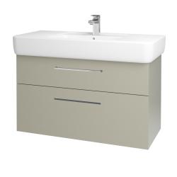 Dřevojas - Koupelnová skříň Q MAX SZZ2 100 - M05 Béžová mat / Úchytka T04 / M05 Béžová mat (198787E)