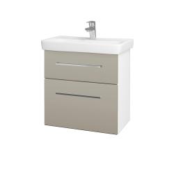 Dřevojas - Koupelnová skříň GO SZZ2 60 - N01 Bílá lesk / Úchytka T04 / M05 Béžová mat (204914E)