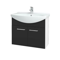Dřevojas - Koupelnová skříň TAKE IT SZD2 75 - N01 Bílá lesk / Úchytka T04 / N03 Graphite (206086E)