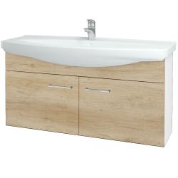 Dřevojas - Koupelnová skříň TAKE IT SZD2 120 - N01 Bílá lesk / Úchytka T04 / D15 Nebraska (206536E)