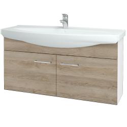 Dřevojas - Koupelnová skříň TAKE IT SZD2 120 - N01 Bílá lesk / Úchytka T04 / D17 Colorado (206550E)