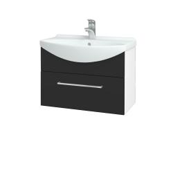 Dřevojas - Koupelnová skříň TAKE IT SZZ 65 - N01 Bílá lesk / Úchytka T04 / N03 Graphite (206727E)