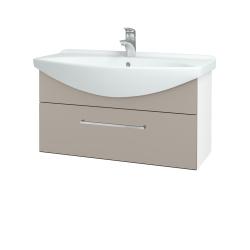 Dřevojas - Koupelnová skříň TAKE IT SZZ 85 - N01 Bílá lesk / Úchytka T04 / N07 Stone (207069E)