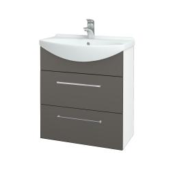 Dřevojas - Koupelnová skříň TAKE IT SZZ2 65 - N01 Bílá lesk / Úchytka T04 / N06 Lava (207533E)