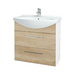 Dřevojas - Koupelnová skříň TAKE IT SZZ2 75 - N01 Bílá lesk / Úchytka T04 / D15 Nebraska (207656E)