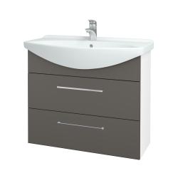 Dřevojas - Koupelnová skříň TAKE IT SZZ2 85 - N01 Bílá lesk / Úchytka T04 / N06 Lava (207854E)