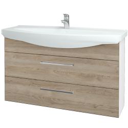 Dřevojas - Koupelnová skříň TAKE IT SZZ2 120 - N01 Bílá lesk / Úchytka T04 / D17 Colorado (208158E)
