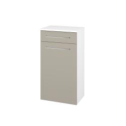 Dřevojas - Skříň spodní DOS SNDKZ 50 - N01 Bílá lesk / Úchytka T04 / M05 Béžová mat (211219E)