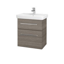 Dřevojas - Koupelnová skříň GO SZZ2 55 - D03 Cafe / Úchytka T04 / D03 Cafe (28070E)