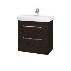 Dřevojas - Koupelnová skříň GO SZZ2 60 - D08 Wenge / Úchytka T04 / D08 Wenge (28209E)