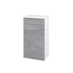 Dřevojas - Skříň spodní DOS SNDKZ 50 - N01 Bílá lesk / Úchytka T04 / D01 Beton (62784E)