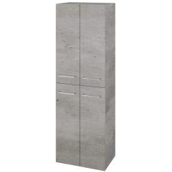 Dřevojas - Skříň vysoká DOS SVD4 50 - D01 Beton / Úchytka T04 / D01 Beton (62838E)
