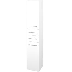 Dřevojas - Skříň vysoká DOS SVD2Z2 35 - N01 Bílá lesk / Úchytka T04 / L01 Bílá vysoký lesk / Pravé (132286EP)