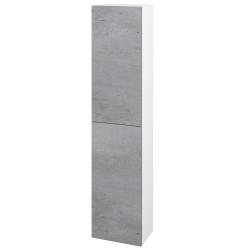 Dřevojas - Skříň vysoká DOS SV1D2 35 - N01 Bílá lesk / Bez úchytky T31 / D01 Beton / Levé (155896D)