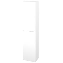 Dřevojas - Skříň vysoká DOS SV1D2 35 - N01 Bílá lesk / Bez úchytky T31 / L01 Bílá vysoký lesk / Levé (155995D)