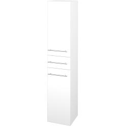 Dřevojas - Skříň vysoká DOS SVD2Z 35 - N01 Bílá lesk / Úchytka T02 / M01 Bílá mat / Levé (209865B)