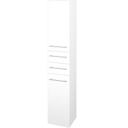 Dřevojas - Skříň vysoká DOS SVD2Z2 35 - N01 Bílá lesk / Úchytka T02 / M01 Bílá mat / Levé (210014B)