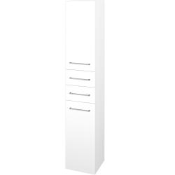 Dřevojas - Skříň vysoká DOS SVD2Z2 35 - N01 Bílá lesk / Úchytka T04 / M01 Bílá mat / Levé (210014E)