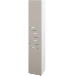 Dřevojas - Skříň vysoká DOS SVD2Z2 35 - N01 Bílá lesk / Úchytka T02 / N07 Stone / Levé (210052B)