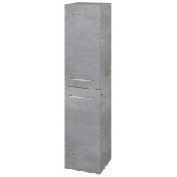 Dřevojas - Skříň vysoká s košem DOS SVD2K 35 - D01 Beton / Úchytka T04 / D01 Beton / Pravé (210519EP)