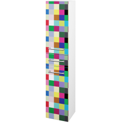 Dřevojas - Skříň vysoká DOS SVD2Z 35 - N01 Bílá lesk / Úchytka T03 / IND Individual / Pravé (66027CP)