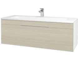 Dřevojas - Koupelnová skříň ASTON SZZ 120 - N01 Bílá lesk / Úchytka T05 / D04 Dub (131128F)