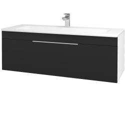 Dřevojas - Koupelnová skříň ASTON SZZ 120 - N01 Bílá lesk / Úchytka T05 / L03 Antracit vysoký lesk (131586F)