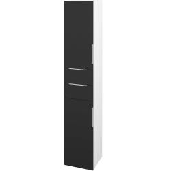 Dřevojas - Skříň vysoká DOS SVD2Z2 35 - N01 Bílá lesk / Úchytka T05 / N03 Graphite / Pravé (210045FP)
