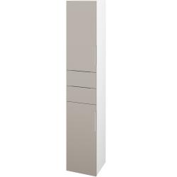 Dřevojas - Skříň vysoká DOS SVD2Z2 35 - N01 Bílá lesk / Úchytka T05 / N07 Stone / Levé (210052F)