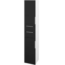 Dřevojas - Skříň vysoká DOS SVD2Z2 35 - N01 Bílá lesk / Úchytka T05 / N08 Cosmo / Levé (210069F)