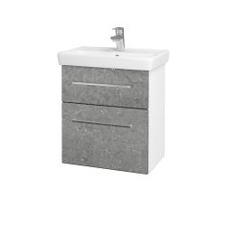 Dřevojas - Koupelnová skříň GO SZZ2 55 - N01 Bílá lesk / Úchytka T04 / D20 Galaxy (278861E)
