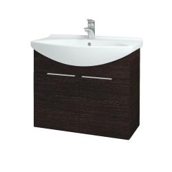Dřevojas - Koupelnová skříň TAKE IT SZD2 75 - D08 Wenge / Úchytka T05 / D08 Wenge (133368F)