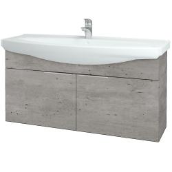 Dřevojas - Koupelnová skříň TAKE IT SZD2 120 - D01 Beton / Úchytka T05 / D01 Beton (133511F)