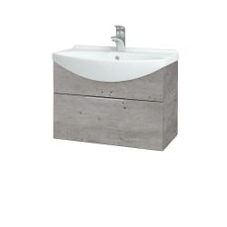 Dřevojas - Koupelnová skříň TAKE IT SZZ 65 - D01 Beton / Úchytka T05 / D01 Beton (133689F)