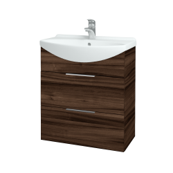 Dřevojas - Koupelnová skříň TAKE IT SZZ2 65 - D06 Ořech / Úchytka T05 / D06 Ořech (133795F)