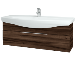 Dřevojas - Koupelnová skříň TAKE IT SZZ 120 - D06 Ořech / Úchytka T05 / D06 Ořech (134297F)