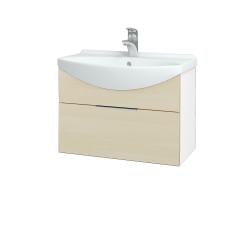 Dřevojas - Koupelnová skříň TAKE IT SZZ 65 - N01 Bílá lesk / Úchytka T05 / D02 Bříza (152383F)