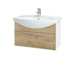 Dřevojas - Koupelnová skříň TAKE IT SZZ 75 - N01 Bílá lesk / Úchytka T05 / D09 Arlington (152536F)