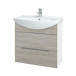 Dřevojas - Koupelnová skříň TAKE IT SZZ2 75 - N01 Bílá lesk / Úchytka T05 / D05 Oregon (152956F)