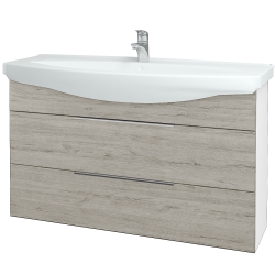 Dřevojas - Koupelnová skříň TAKE IT SZZ2 120 - N01 Bílá lesk / Úchytka T05 / D05 Oregon (153274F)