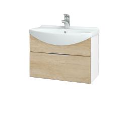 Dřevojas - Koupelnová skříň TAKE IT SZZ 65 - N01 Bílá lesk / Úchytka T05 / D15 Nebraska (206697F)