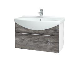 Dřevojas - Koupelnová skříň TAKE IT SZZ 75 - N01 Bílá lesk / Úchytka T05 / D10 Borovice Jackson (206840F)