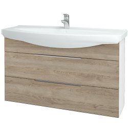 Dřevojas - Koupelnová skříň TAKE IT SZZ2 120 - N01 Bílá lesk / Úchytka T05 / D17 Colorado (208158F)
