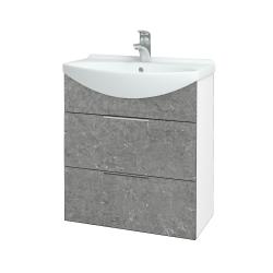 Dřevojas - Koupelnová skříň TAKE IT SZZ2 65 - N01 Bílá lesk / Úchytka T05 / D20 Galaxy (279387F)