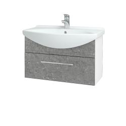 Dřevojas - Koupelnová skříň TAKE IT SZZ 75 - N01 Bílá lesk / Úchytka T04 / D20 Galaxy (279424E)