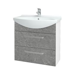 Dřevojas - Koupelnová skříň TAKE IT SZZ2 75 - N01 Bílá lesk / Úchytka T01 / D20 Galaxy (279448A)