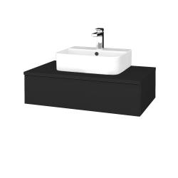 Dřevojas - Koupelnová skříňka MODULE SZZ 80 - L03 Antracit vysoký lesk / L03 Antracit vysoký lesk (297084)